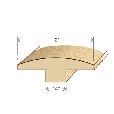 """2"""" Flex T Molding (can flex to a 40"""" radius, stocked in 96"""" and 140"""" lengths - please contact if you need a true 12 foot (144"""") long piece)"""